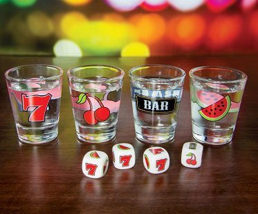 Fruit Machine Shot Glasses