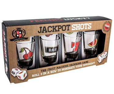 Fruit Machine Shot Glasses box