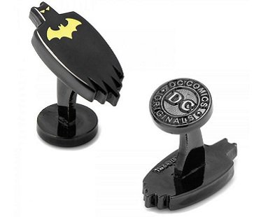 Glow in the Dark Batman Cufflinks black