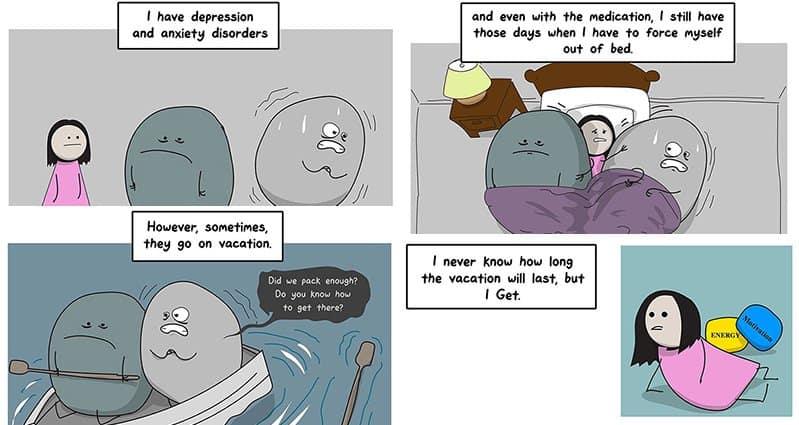 Illustrations Depression Anxiety