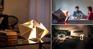 Lamp Design Origami Kickstarter