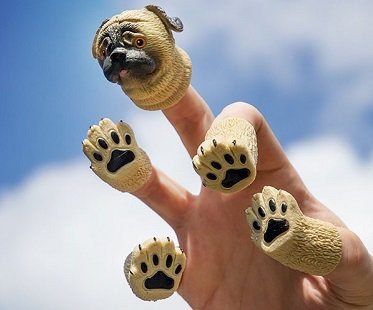 Pug Dog Finger Puppets
