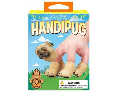 Pug Dog Finger Puppets box