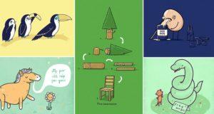 Randy Otter Amusing Illustrations