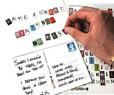 Ransom Note Postcards