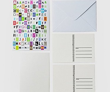 Ransom Note Postcards letter