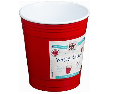 Red Party Cup Waste Basket bin