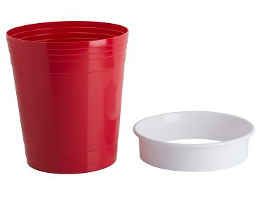 Red Party Cup Waste Basket trash
