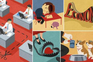 Satirical Illustrations About Today's Society