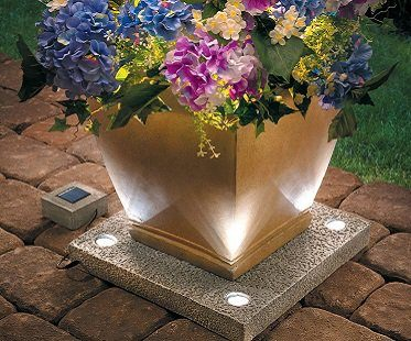 Solar Light Up Planter Base Flowers