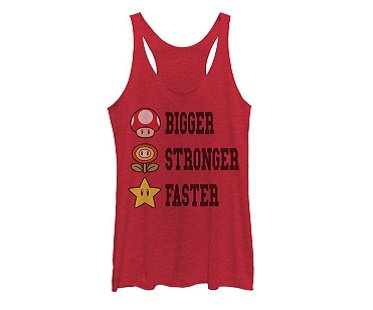 Super Mario Tank Top red