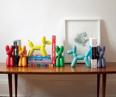 balloon dog bookend colours