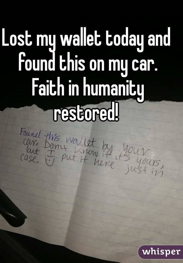 faith in humanity Faith in humanity restored, made me smile, restore faith in humanity, wholesome pictures follow we're also on instagram, tumblr and g+ trending.