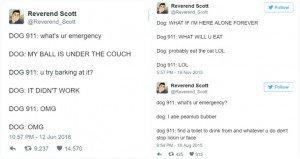 funny dog emergency calls