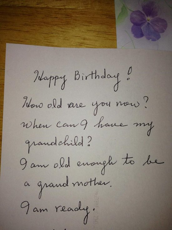 funny-mom card ready for grandchild