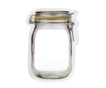 mason jar zipper bags reusable