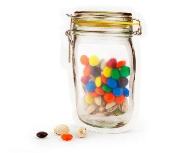 mason jar zipper bags snacks