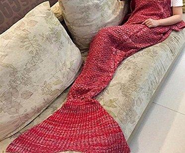 mermaid tail blanket red