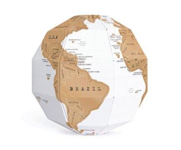 scratch off globe world