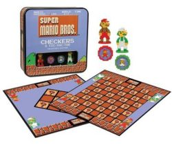 super mario checkers game