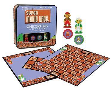 super mario checkers game