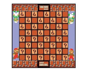 super mario checkers game board
