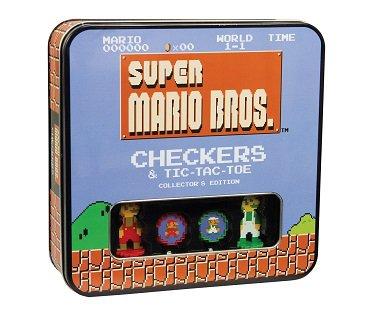 super mario checkers game box