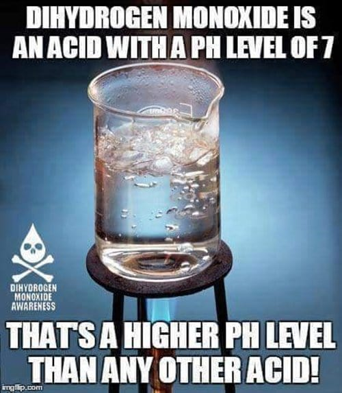 beaker with water over Bunsen burner ph level