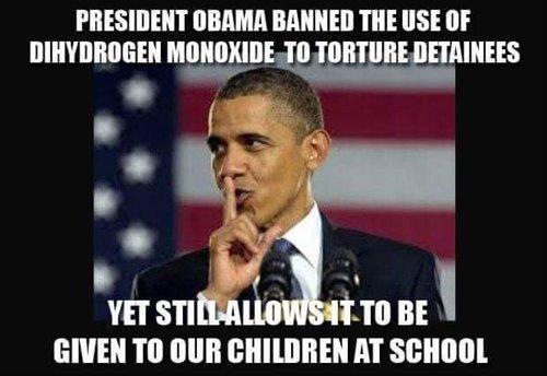 obama banning water