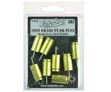Bullet Casing Push Pins pack