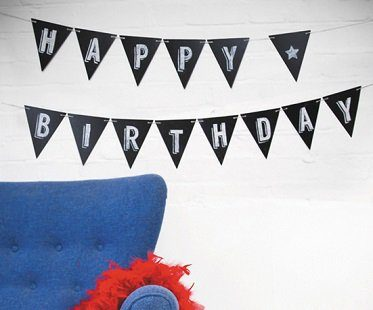 Chalkboard Paper Bunting Flags