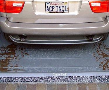 Clean Park Garage Mat mud
