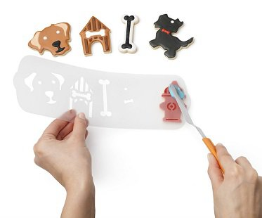 Dog Themed Cookie Cutters icing