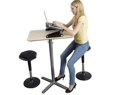 Ergonomic Wobble stool desk