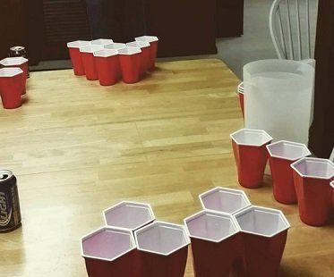 Hexagon Cup Beer Pong Set