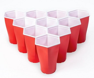 Hexagon Cup Beer Pong Set game