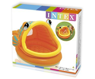 Inflatable Fish Baby Pool box
