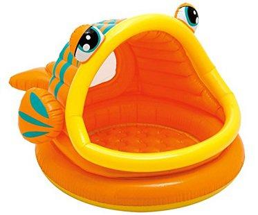Inflatable Fish Baby Pool orange
