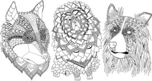 Line Drawings Of Dogs