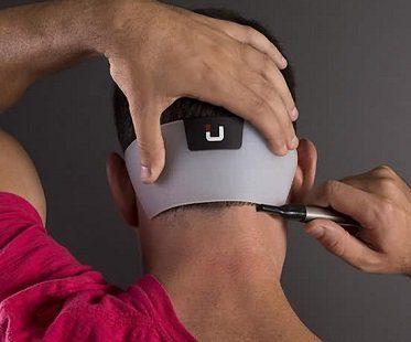 Neckline Shaving Template
