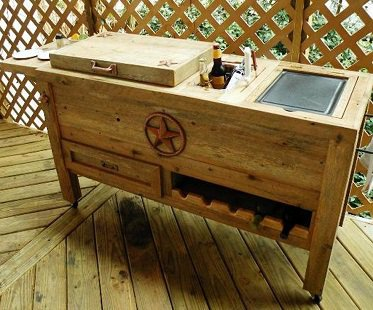 Outdoor Cooler And Grill Prep Cart furniture