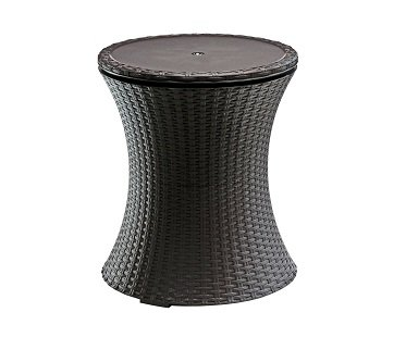 Outdoor Cooler Table rattan