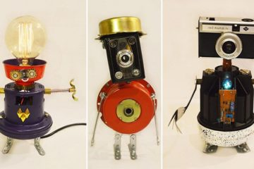 Robot Lamps Scrap Objects