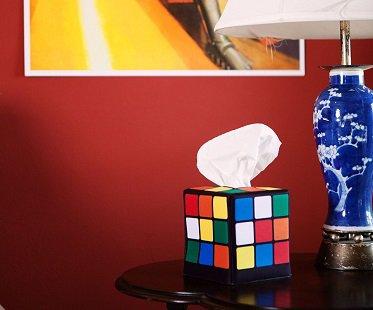 Rubik's Cube Tissue Box Cover caddy