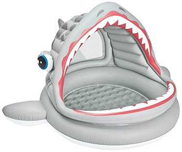 Shark Inflatable Shade Pool grey