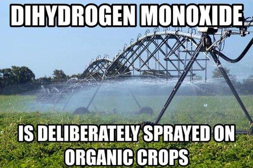 sprayed on crops