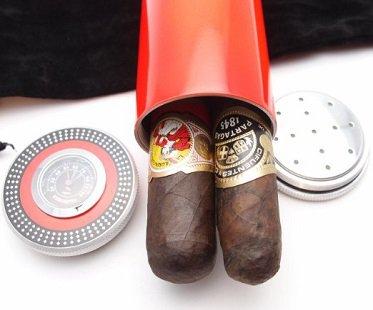 Travel Cigar Humidor hygrometer