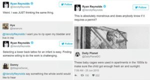 Twitter Responses Ryan Reynolds