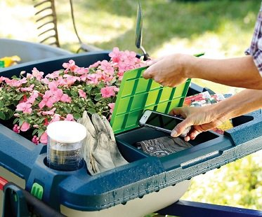 Wheelbarrow Organizer garden
