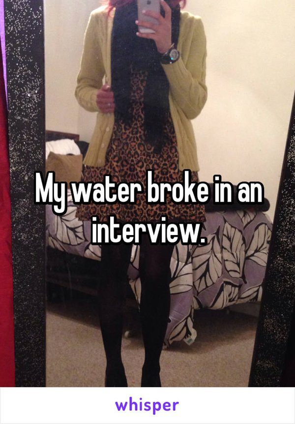 awkward-job-interviews-water-broke
